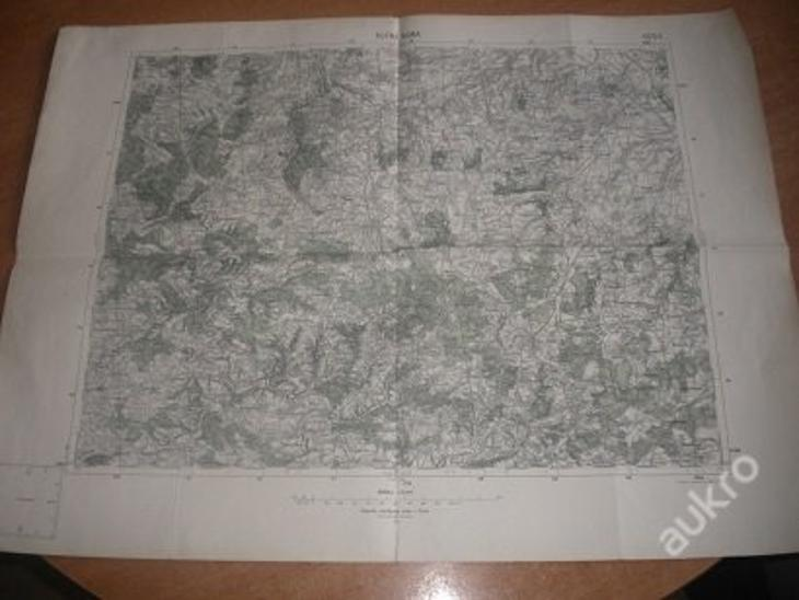 mapa Kutná Hora - 1:75 000 - Antikvariát