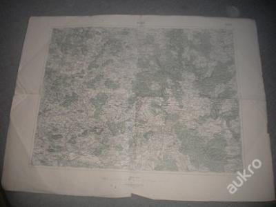 mapa Písek -1:75 000