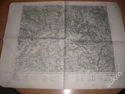 mapa Josefov a Náchod - 1:75 000