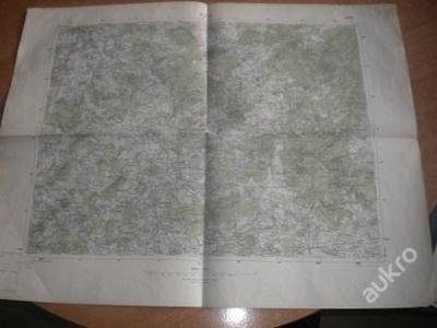mapa Plzeň - 1:75 000
