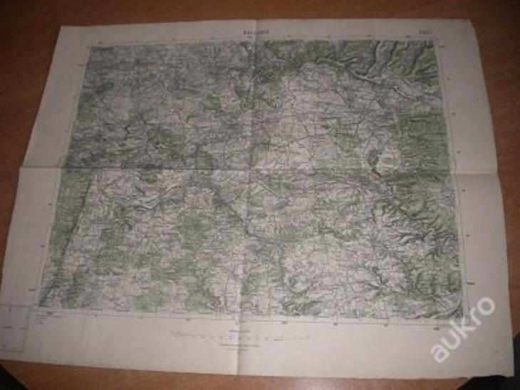mapa Rakovník - 1:75 000 - Antikvariát