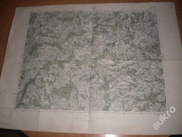 mapa Vlašim - 1:75 000 - Antikvariát