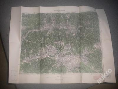 mapa Brezno nad Hronom - 1:75 000