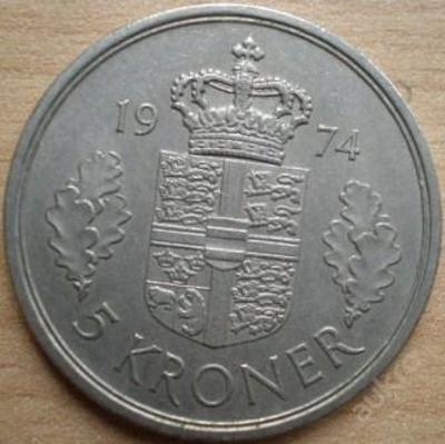 Dánsko 5 Kr 1974
