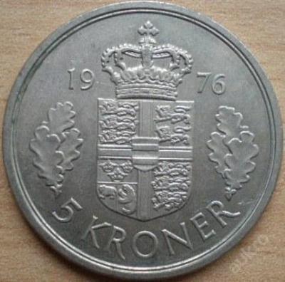Dánsko 5 Kr 1976