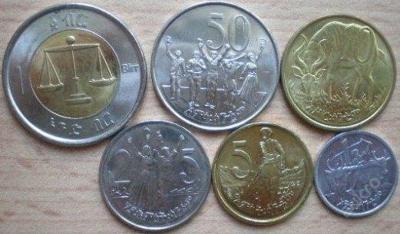 Etiopie 6 mincí