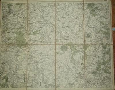Kolín 50x40 cm - mapa