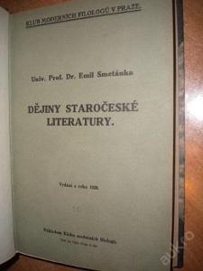 Smetánka - Dějiny staročeské literatury - 1928