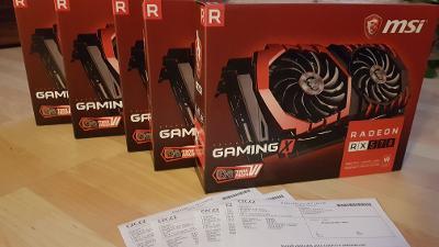 Prodam MSI RX 570 Gaming X 4gb