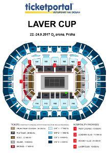 LAVER CUP-pátek,sobota 1vstup.2řada přímo u kurtu