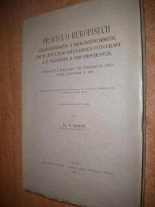 Mareš F. - Pravda o rukopisech - 1931