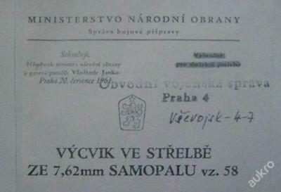 SA58 - VÝCVIK VE STŘELBĚ NA CD