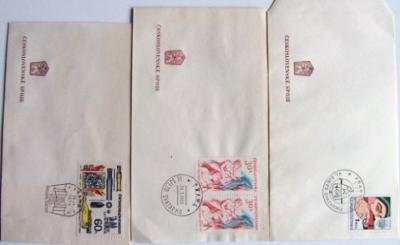 3 x razítko obálka : SJEZDY SVAZARM 1966 1973 1978