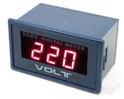 Digitální voltmetr AC 0 - 600V, napájení 220V