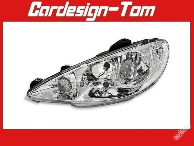 Světlo Světla přední Peugeot 206 98-11.2005 H7+H7 - Náhradní díly a příslušenství pro osobní vozidla