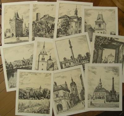 Orig. litografie po 10 Kč - Karel Vik - (G579)