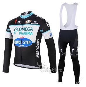 zimní komplet cyklo dres Omega Pharma - vel.???