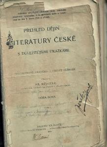 Přehled dějin literatury české s důležitějšími uká