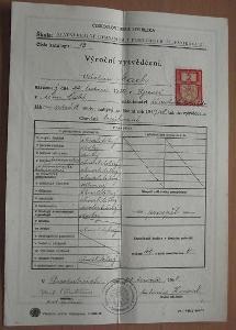 Výroční vysvědčení 1948 - dokument
