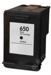 tisková kazeta HP650bk / HP 650 XL -černá, 17ml