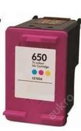 tisková kazeta HP650col / HP 650 XL -barevná, 18ml