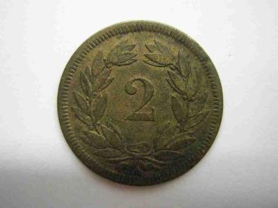 Švýcarsko 2 Rap 1851 A