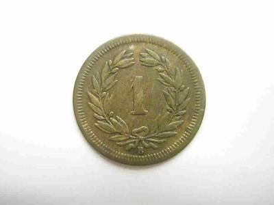 Švýcarsko 1 Rap 1868 B