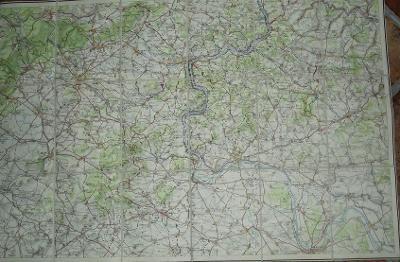 České středohoří 74x50 cm - mapa