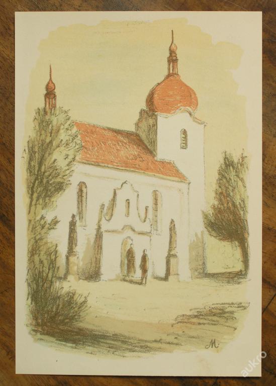 Karel Müller - orig. litografie - (E402) - Starožitnosti