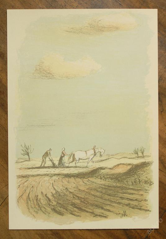 Karel Müller - orig. litografie - (E403) - Starožitnosti