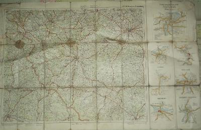 Prag-Regensburg 95 x 60 cm - mapa