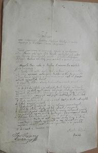 Ručně psaná smlouva 1880