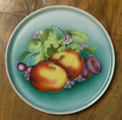 starý podnos - talíř - (F613)