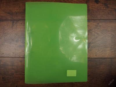 Plastové spisové desky A4, zelené průhledné