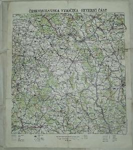 Českomoravská vysočina 32x39cm - mapa
