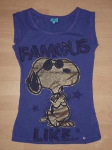 fialové tričenko se Snoopym vel.S