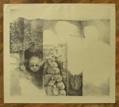 Baránková - Orig. litografie - (E610) - Starožitnosti