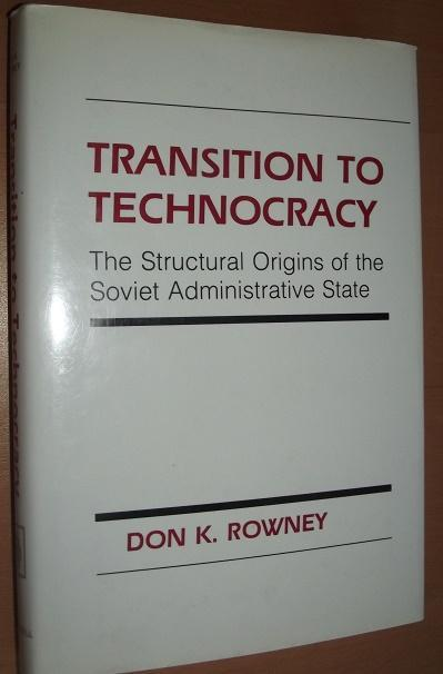 Transition to technocracy The Structural Origins