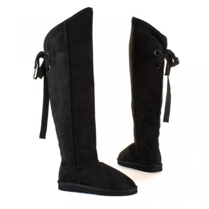 Stylové kozačky AKCE (36) 8969-black - Dámské boty