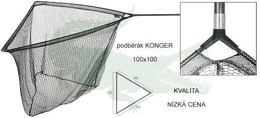 podběrák KONGER Big Carp 100x100