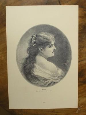 Dřevoryt 1890 - Graziella - (D427)