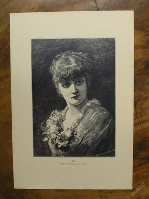 Dřevoryt 1890 - Elvira - (D412)