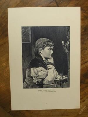 dřevoryt - 1890 - Gretchen - (D419)