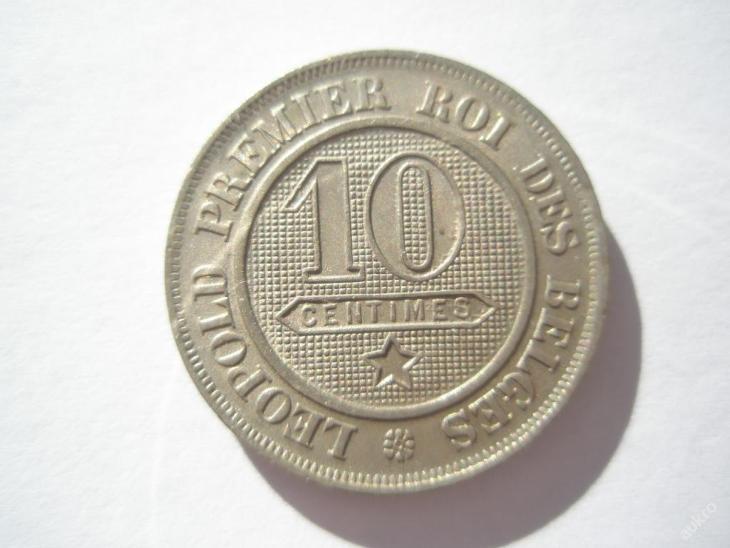 Belgie 10 cent 1862 Belges - Numismatika