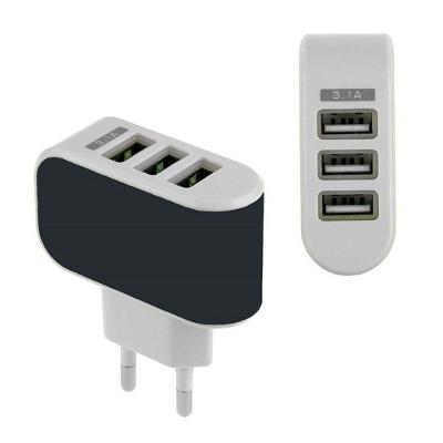 USB nabíječka do sítě 3x USB, 3,1A