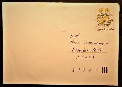 ČSSR II dopisní obálka