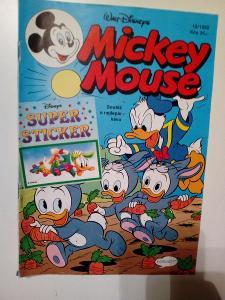 Časopis Mickey Mouse, č. 10/1992, pěkný zachovalý stav