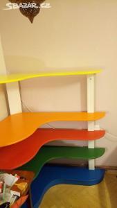 Knihovnu / policový díl/ regál do dětského pokoje - Montessori styl