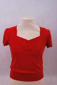 Úpletový dámský svetřík s krátkým rukávem, vel.38 (6295M)