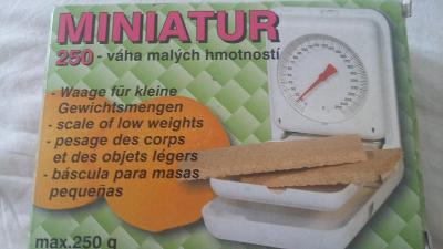 miniatur 250 vaha malych hmotnosti